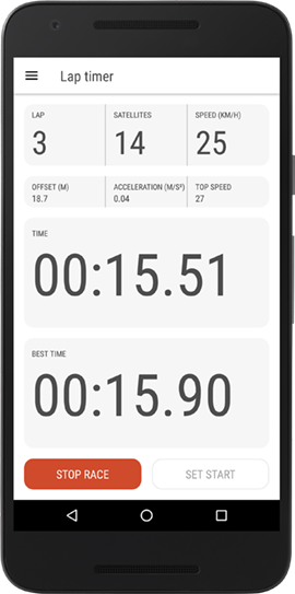 Gps Lap timer app for Android