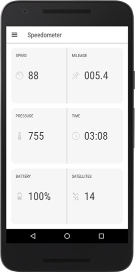 GPS speedometer app for Android